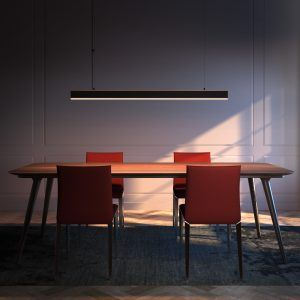 SUNI Linear Wooden Suspended Lamp